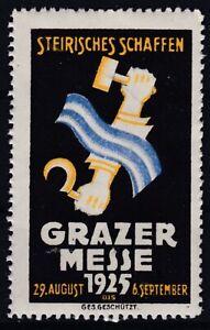 Grazer Messe 19. August - 6. September 1925 Reklamevignette