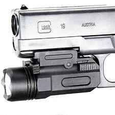 Tactical Pistol Gun Flashlight Torch Light for 20mm Picatinny Rail 500 Lumens