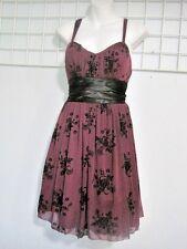 Three Pink Hearts by Trixxi Size Junior Medium Party Dress in Purple/Black