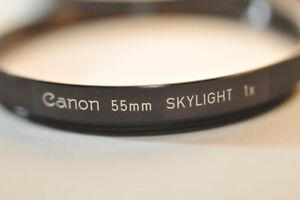 Canon 55mm Skylight 1X RIBBED early clear filter for FD FL lenses