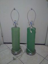 Glass Three Way Table Lamp Set of Two