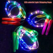 LIGHT UP JUMP ROPE KIDS LED SKIPPING TOYS CHILDREN EXERCISE ROPES GIFT FADDISH