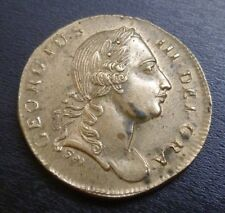 George III Gold Guinea Brass Coin Weight With Nice Portrait (W1899D)
