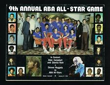 1975 – 1976 Ninth & Last Annual ABA Basketball All-Star Game Program at Denver