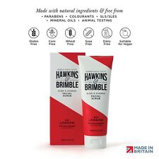 Hawkins & Brimble Facial Scrub - 125ml Walnut Almond Skin & Face Exfoliator