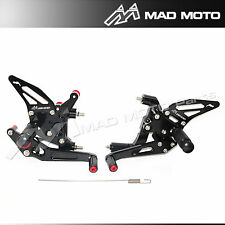 REARSET Rear sets Ducati Panigale 899 1199 1199 R S   foot pegs black color