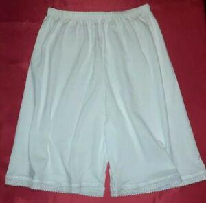 White Black Jersey Cotton Petticoats Petti Pants Half Slips Shorts culottes
