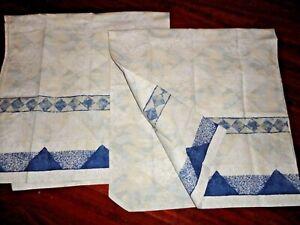 WESTPOINT STEVENS SOUTHWESTERN NAVY BLUE DIAMOND (2) KING PILLOWCASES 20 X 39