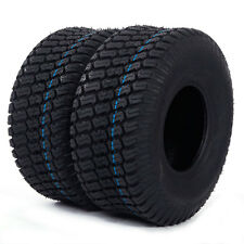Set of 2 Tires Tubeless 15x6.00-6 Turf Tires 4 Ply Lawn Mower Tractor Oshion New