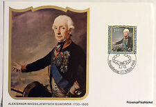 LIECHTENSTEIN  N° 46 ALEKSANDR SUWOROW Carte Postale Maximum  LIE15