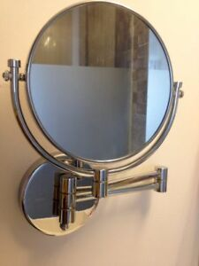 """HAMAT 2 Sided Magnifying Extending Makeup Shaving 3X Mirror Stainless Steel 7.5"""""""