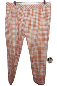 Puma Orange Plaid Golf Pants Men's 34x32
