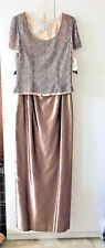 ADRIANNA PAPELL FULL LENGTH 2 PC FORMAL, BEADED TOP (not sequins), Size 8, NWT