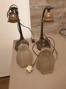 Antike Nachttisch  Lampen 2 Stück von 1911 mit Bakelit Fassung