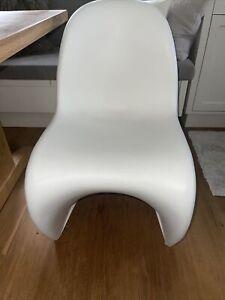 Vitra Panton Chair Designerstuhl niedrige Sitzhöhe weiß (gebraucht, Neuwertig)