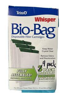 Tetra Whisper Bio-Bag Cartridge Medium 4 Pack- New Ships TOMORROW