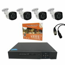 1080p Full HD AHD 2MP Security Cameras Complete Set 4 Cameras with Phone App