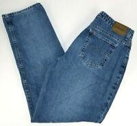 St. John's Bay Women's Relaxed Fit Straight Leg Blue Jeans 14 Avg