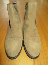 10U/PIKOLINOS WOMENS SUEDE BROWN LEATHER ANKLE BOOTS/FRINGE/HEELS/SZE 39/8.5!