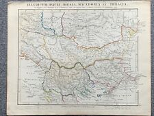 1841 ILLYRIA MACEDONIA THRACE DACIA HAND COLOURED ANTIQUE MAP BY ARROWSMITH