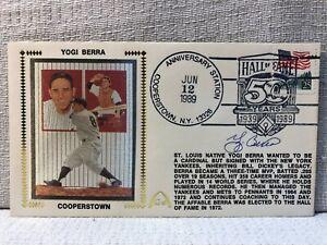 Yogi Berra Yankees Signed First Day Cover FDC 1989 Baseball Envelope Cachet JSA