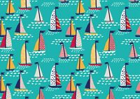 Cool Colourful Sailing Boats Poster Size A4 / A3 Summer Travel Poster Gift #8349