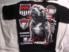 PITBULL TERRIER RUDE DOG BEWARE WARNING TEAM T-SHIRT SHIRT