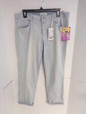 Women's Jolt Jeans The Girlfriend Fit Twist N Roll Pinstripe Jeans Size 13