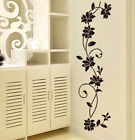 Black Flower Vine Wall Stickers Refrigerator Window Cupboard Home Decoration Diy