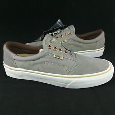 486b00e76e6d New Vans Rowley Solos Pro Size 7.5 Men Medium Grey Brown Suede Canvas Skate  Shoe
