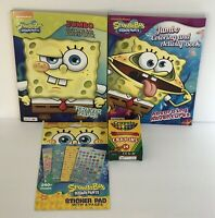 4 Sponge Bob Square Pants Jumbo Coloring Activity Books, Sticker Book & Crayons