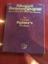 Advanced Dungeons & Dragons The Complete Fighter's Handbook Softcover 1st Print