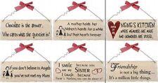Placas y señales decorativas Shabby Chic para el hogar