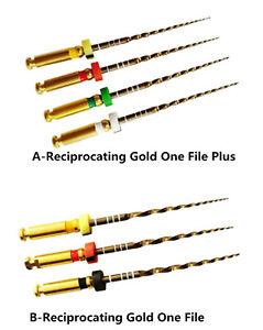 20Pcs Dental Endodontic Niti Rotary Files Reciprocating Gold One File Endo Motor