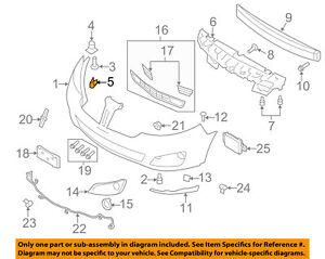 Lincoln FORD OEM 09-12 MKS Front Bumper-Side Retainer Bracket Right 8A5Z17C947A