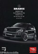 Brabus M-clase widestar w164 coche folleto 3/07 d + gb car brochure turismos 2007 automóviles