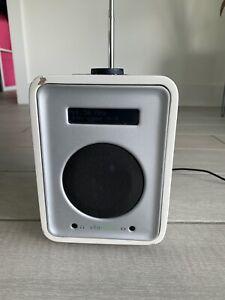 Vita (Ruark) R1 DAB/FM Radio/Alarm Clock in White/Silver