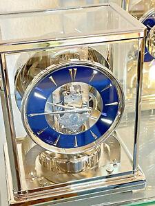 Zz Jaeger LeCoultre ATMOS Uhr 526/5- platiniert - Nachtblaues Zifferblatt