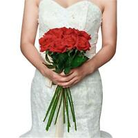 Artificial Rose Flower Bouquet Fake Silk Floral Bunch Wedding Home Decor G5Z