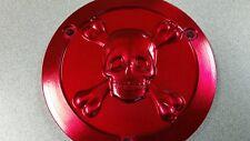 Yamaha Banshee Skull Clutch Cover, Billet Aluminum 3D CNC Machined, Red
