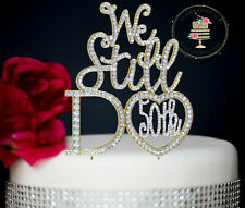 New 50th Wedding Anniversary Rhinestone Number Cake Topper party decoration