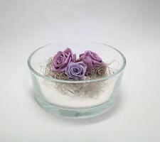 ROSE disidratate stabilizzate  in vaso ciotola vetro  fiori artificiali