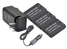 New 3x FXDC02 Battery + Charger For Drift HD Ghost, Ghost-S CFXDC02 Camera