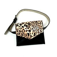 Inc Leopard Print Black Fanny Pack Waist Belt Bag S Small NWT