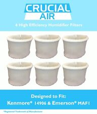 6 Kenmore 14906 & Emerson MAF1 Humidifier Wick Filters, Part # 42-14906 NEW
