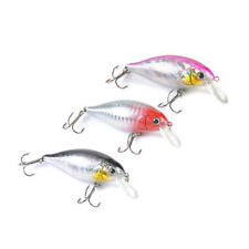 7cm Plastic Eye Minnow Fishing Lure Bass Crankbait Fishing Bait Tackle Tool New