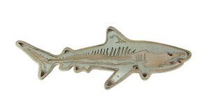 Zeckos Distressed Wood and Galvanized Metal Shark Wall Hanging