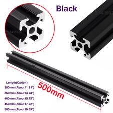 300-500mm Black 2020 T-Slot Aluminum Profiles Extrusion Frame For CNC 3D Printer