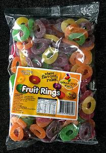 Lolliland Fruit Rings Gluten Free Lollies 1kg Bag - Halal