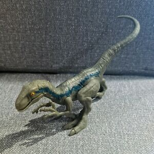 2017 Mattel Jurassic World Velociraptor Dinosaur Raptor Blue Action Figure JP